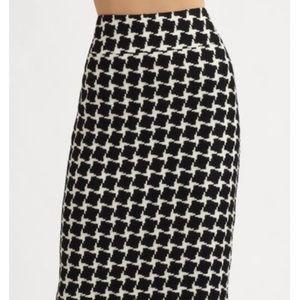 Lafayette 148 Women's Checker Print Pencil Skirt
